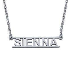 Bar Name Necklace - Cut Out Design product photo