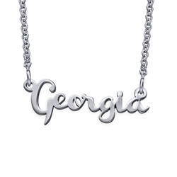 Signature Silver Cursive Name Necklace product photo