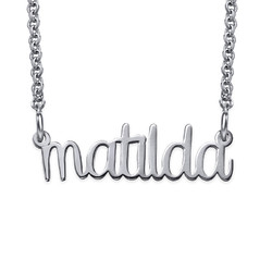Signature Wire Name Necklace - Lower Case Design product photo