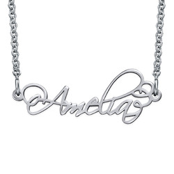 Signature Calligraphy Style Name Necklace product photo