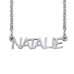 Signature All Capitals Name Necklace product photo