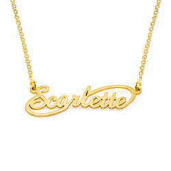 Infinity Style Name Necklace in 18k Gold Vermeil product photo