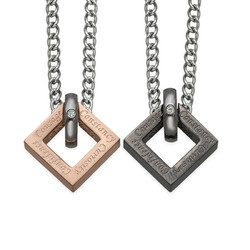 Square Shaped His and Hers Necklaces product photo