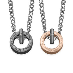 Circle Shaped His And Hers Necklaces product photo