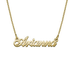 Tiny Classic Name Necklace In Extra Strength in 18k Gold Vermeil product photo