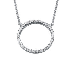 Eternity Circle Necklace in Silver & Cubic Zirconia product photo