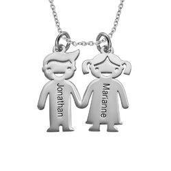 Kids Holding Hands Charms Necklace product photo