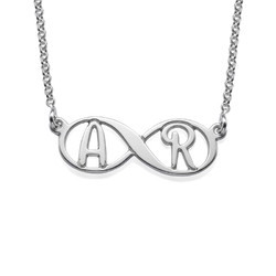 Infinity Necklace with Initials product photo