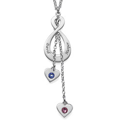 Never-ending Love Infinity Necklace with birthstones product photo