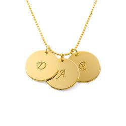 Engraved 18k Gold Vermeil Disc Necklace product photo