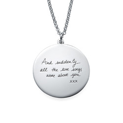 Handwriting Necklace - Disc Shaped product photo