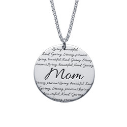 Inspirational Engraved Mom Necklace product photo