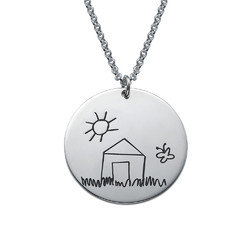 Disc Necklace for Moms with Kids Drawings product photo
