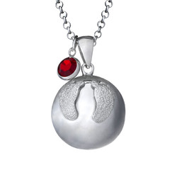 Harmony Ball Necklace with Baby Feet product photo