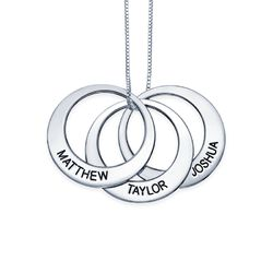 Multiple Ring Necklace in Sterling Silver product photo