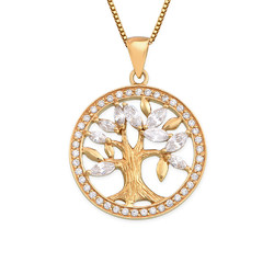 18K Gold Plated Tree of Life Necklace product photo