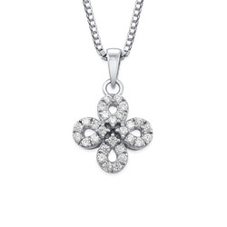 Cubic Zirconia Infinity Cross Necklace product photo