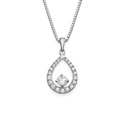 Cubic Zirconia Tear Drop Necklace product photo