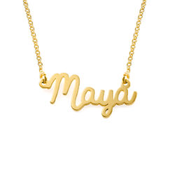 Personalized Cursive Name Necklace in 18k Gold Vermeil - Mini Design product photo
