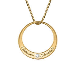 Circle Gold Vermeil Necklace with Diamond product photo
