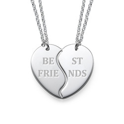 Personalized Best Friends Necklaces in Silver product photo