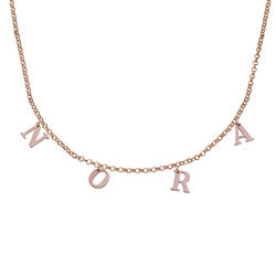 Name Choker in 18K Rose Gold Plating product photo