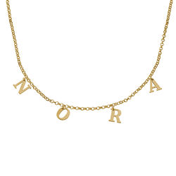 Name Choker in Gold Vermeil product photo