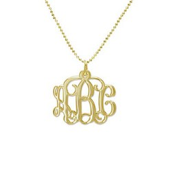 Personalized Monogram Necklace in 10k Gold product photo