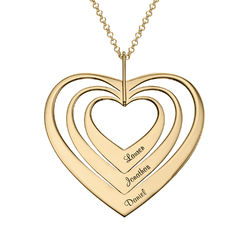Family Hearts necklace in Gold Vermeil product photo