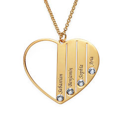 Mom Birthstone Necklace in Gold Plating product photo