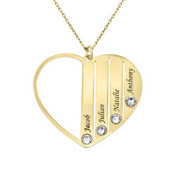 Mom Birthstone Necklace in Gold 10K product photo