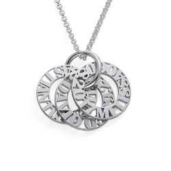 Personalized Mother Necklace in Sterling Silver product photo