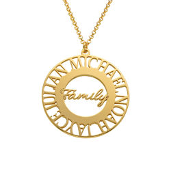 Mom Circle Necklace in Gold Plating product photo