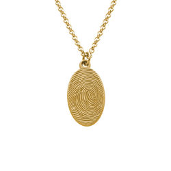 Fingerprint Oval Necklace with 18K Gold plating product photo