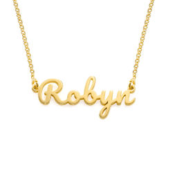 Script name Necklace with in Gold Vermeil product photo