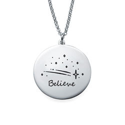 Inspirational Necklace In Silver product photo