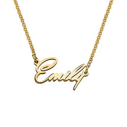 18K Gold Plated Tiny Name Necklace in Extra Strength for Teenagers product photo
