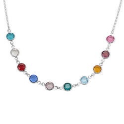 Mother's Swarovski Necklace in Silver product photo