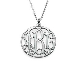 Personalized Jewelry Circle Initial Monogram Necklace product photo