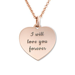 Heart Necklace in Rose Gold Plating product photo