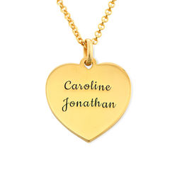 Heart Necklace in 18k Gold Vermeil product photo