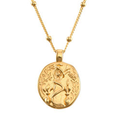 Hygieia Coin Necklace in Gold Plating product photo