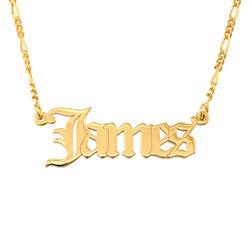 Custom Gothic Name Necklace in 18K Gold Plating - Unisex product photo