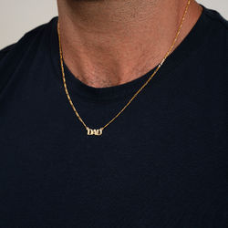 Capital Name Necklace in 18K Gold Plating product photo