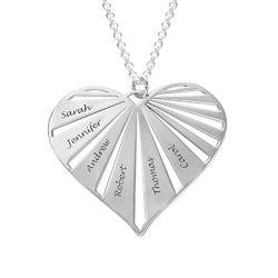 Personalized Family Necklace in Sterling Silver product photo