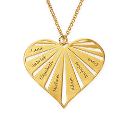 Personalized Family Necklace in Gold Plating product photo