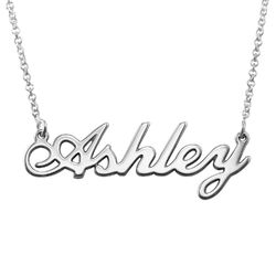 Classic Name Necklace in Sterling Silver product photo
