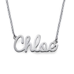 Cursive Name Necklace in Sterling Silver product photo