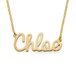 Cursive Name Necklace in 18k Gold Plating product photo