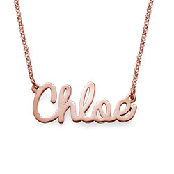 Cursive Name Necklace in Rose Gold Plating product photo